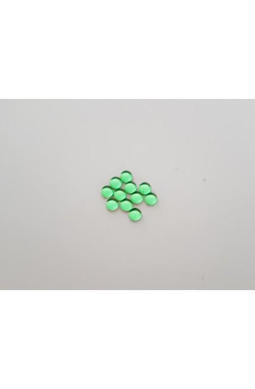 CABOCHON 4 mm VERT TRANSLUCIDE