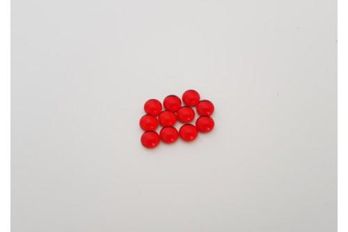 CABOCHON 4 mm ROUGE TRANSLUCIDE