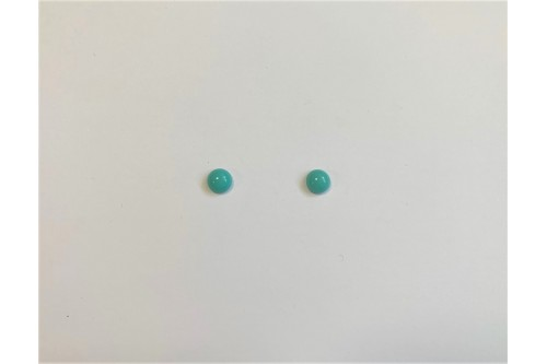 CABOCHON ROND 6 MM TURQUOISE