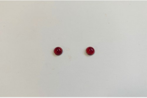 CABOCHON ROND 6 MM RUBIS