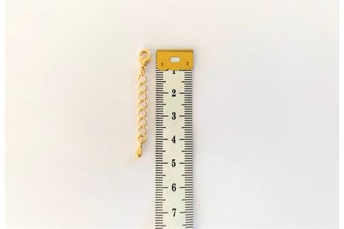 CHAINETTE DE RALLONGE DORéE 25 mm