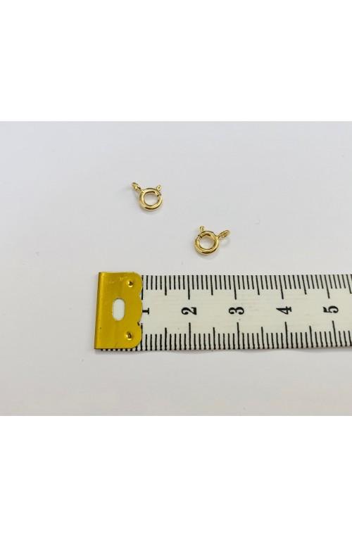 FERMOIR MOUSQUETON ROND DORé 5 mm