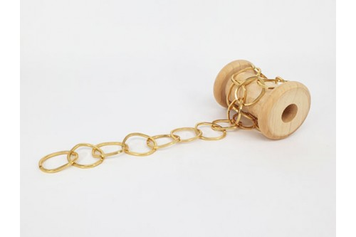 chaîne anneaux ondulés dorée