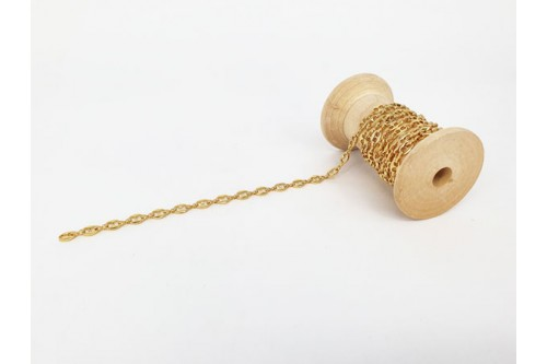 chaîne maille grain de café dorée