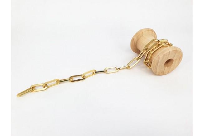 chaîne trombone dorée XL