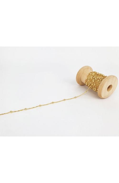 chaîne torsadée décor boule dorée