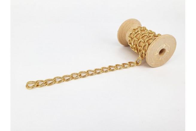 chaîne double maille dorée