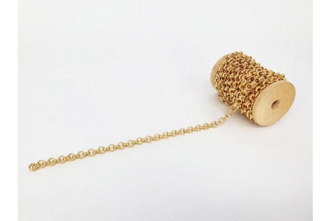 chaîne maille ronde dorée