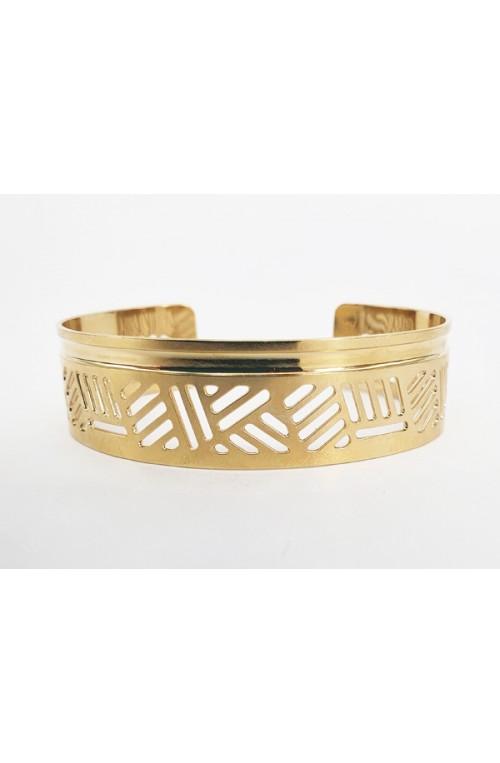 bracelet jonc Isis doré pour cuir ou tissus